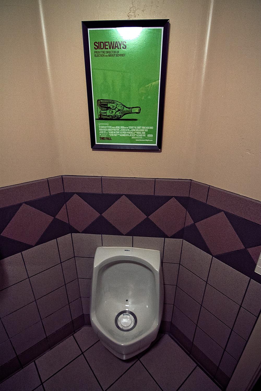 Im Los Olivos Merchant & Cafe wird man selbst am stillen Örtchen an SIDEWAYS erinnert.