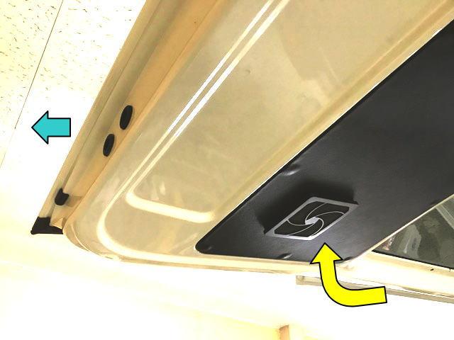 ハイエースにバックドア換気扇を付けました。