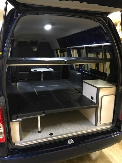ハイエースやNV350キャラバンで二段ベッドを作るなら、ネッツトヨタ静浜のインショップ、OSPトランポキット!