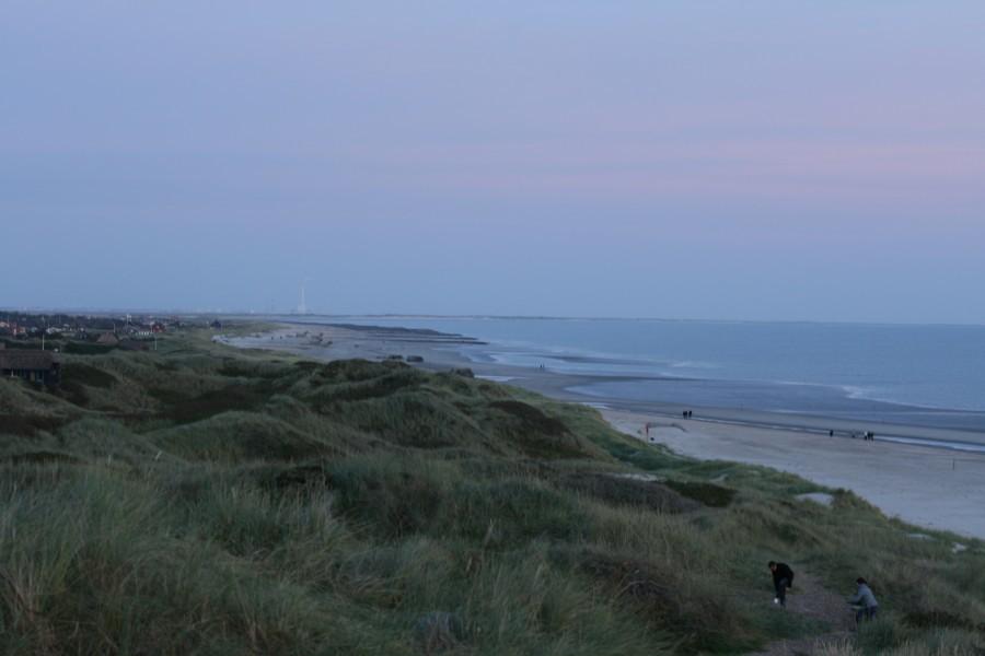 Blick vom Leuchturm auf den Strand