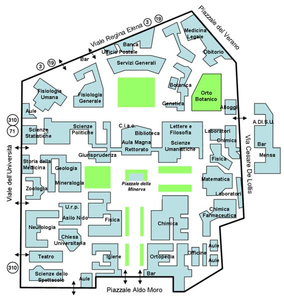 Mappa Città Universitaria