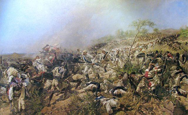 """""""Bataille de Dogali"""" di Michele Cammarano. Con licenza Pubblico dominio tramite Wikimedia Commons"""