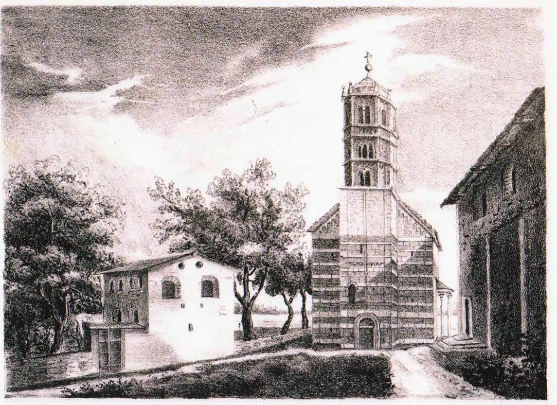 La piazzetta di S.Maria del Tiglio in una stampa del 1836