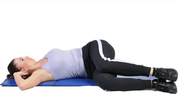 lower back exercises knee bending knee side
