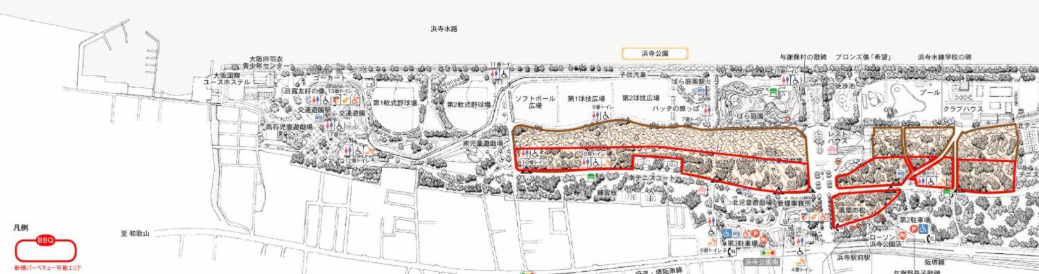 浜寺公園BBQマップ.