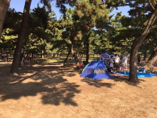 浜寺公園無料BBQエリア