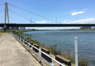 淀川公園太子橋地区は淀川の見える景観