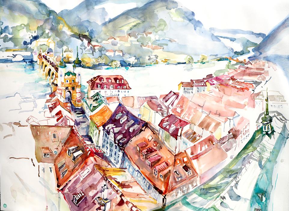 Heidelberg, Aquarell
