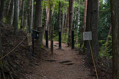 天空の里ビューポイントへの遊歩道は地元のボランティアの手によって整備されています。