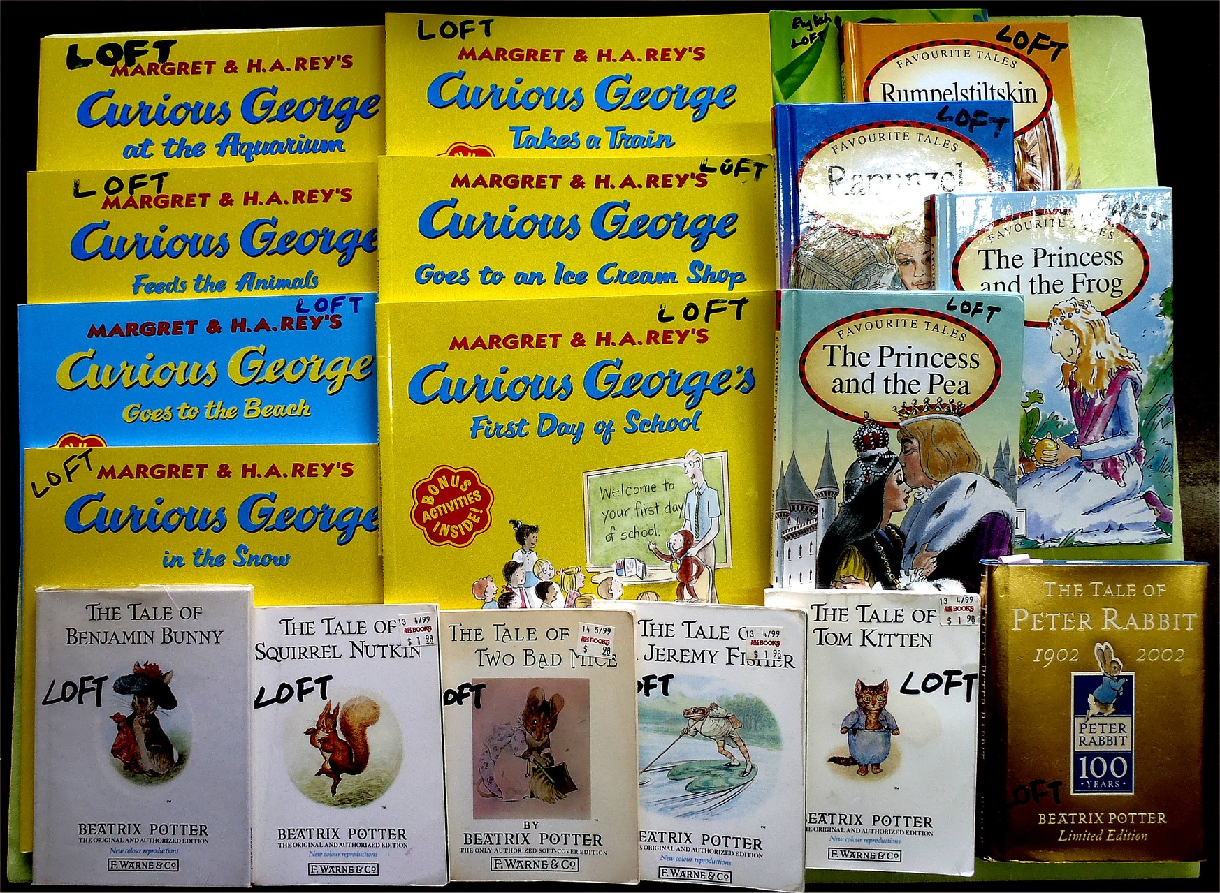 Curious George and Peter Rabbit (and friends)