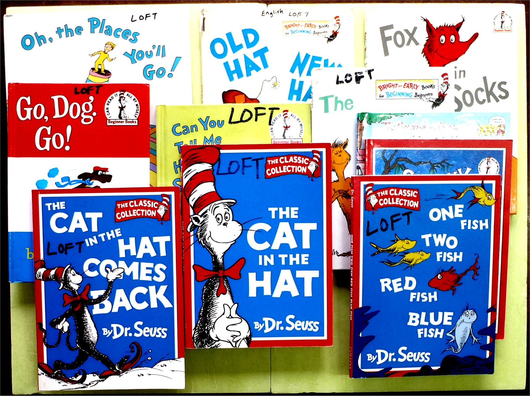 Dr. Seuss (very popular)