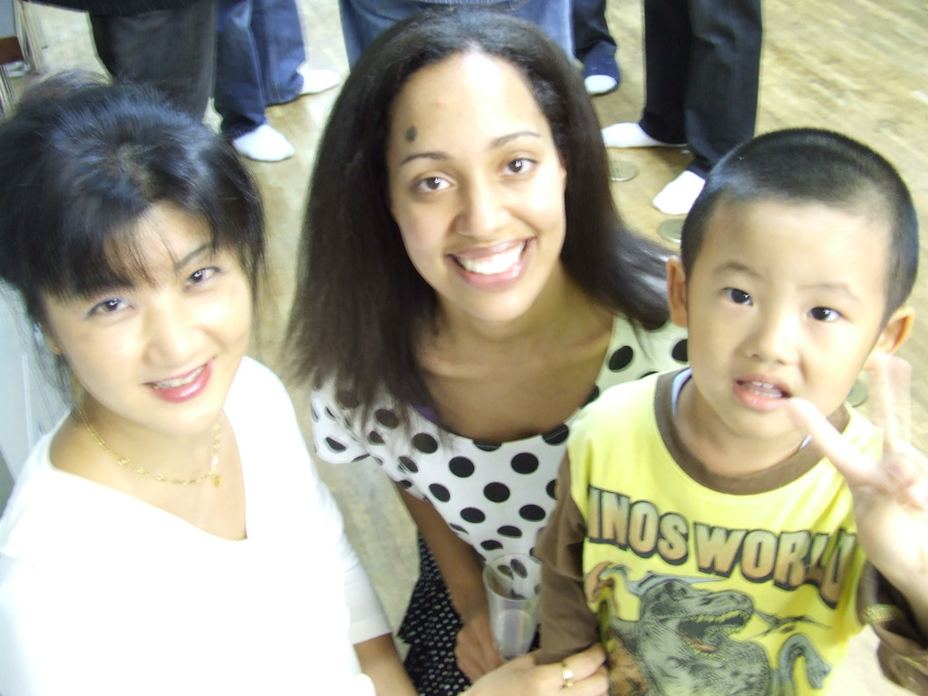 Mommy, Michele, and student.