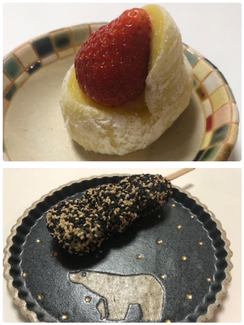 夫婦と和菓子