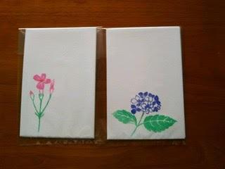絵はがき(紫陽花と撫子)