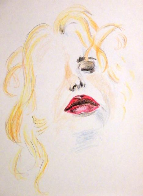 Genuss - Pastell/Kreide Zeichnung - Künstlerin Vesna Rau
