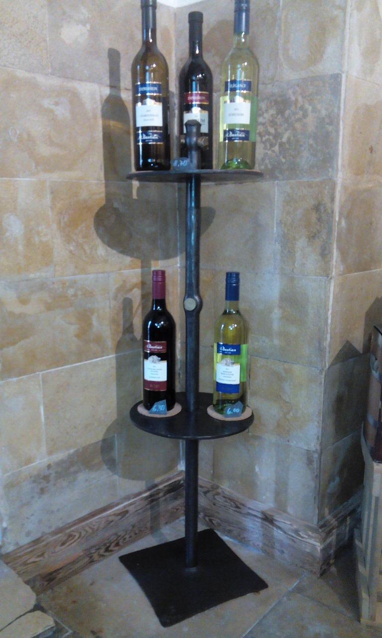 Wein-Etagere rund