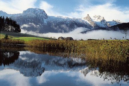 Egelsee, im Hintergrund das Tennengebirge