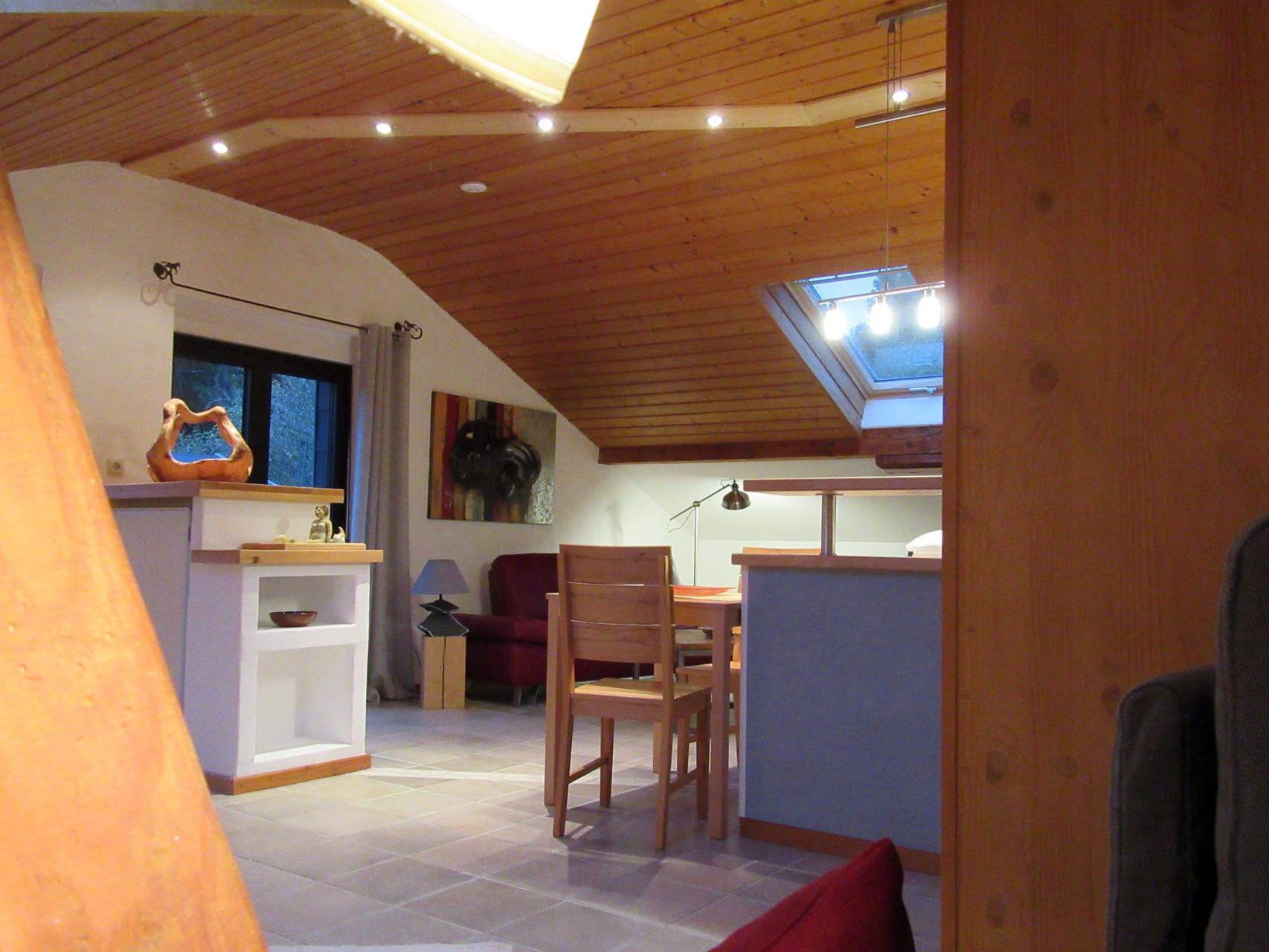 Blick auf den Wohnbereich Ihrer Ferienwohnung