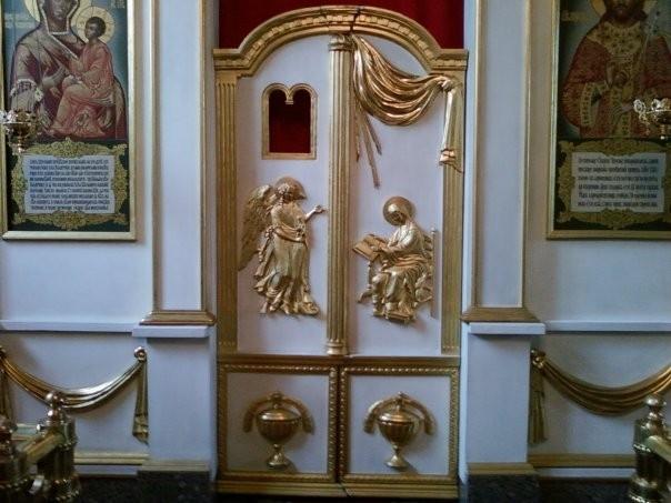 Царские врата моей работы. Находятся в Покровском соборе в Новгороде Великом.