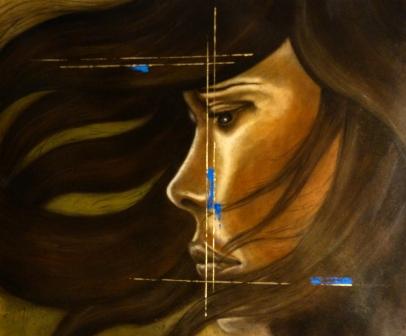 Coup de mistral 100x81cm Huile sur toile