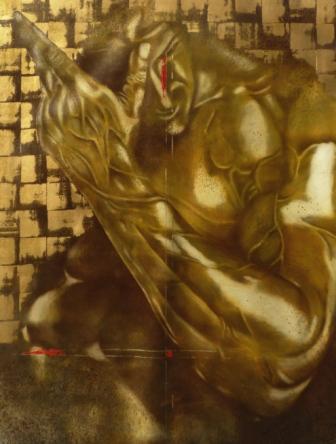 Gladiateur 97x130cm Huile sur toile