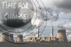 Kernkraftwerke und Abgase aus Schornsteinen