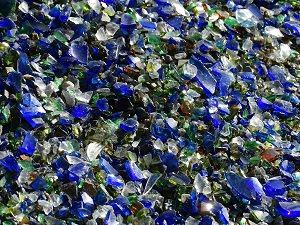Glassplitter bunt