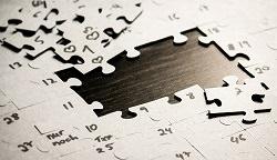 Puzzle mit Lücke