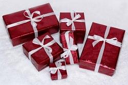 Geschenkpakete verpackt