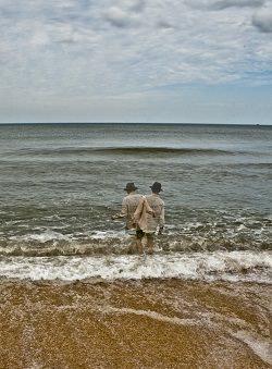 Zwillingsbild am Meer