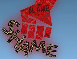 Begriff shame in Großbuchstaben