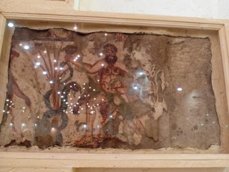 Фреска с Гераклом из склепа