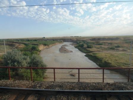 Мост над  Арысью