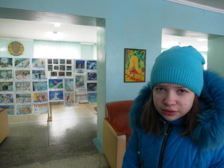 выставка рисунков, Волшебница зима