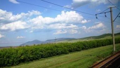В дороге. Вид на Кокшетау