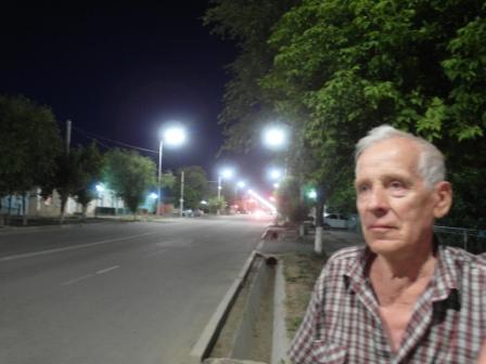 Вечерняя Арысь. Иллюминация улицы Ергобек