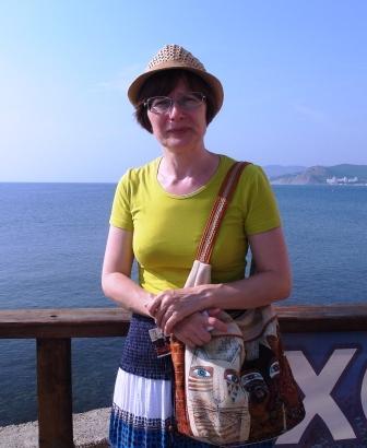 У входа в океанариум (фотограф - Мия)