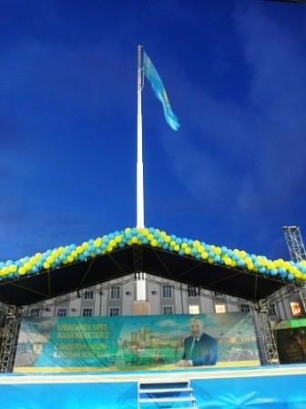 Более 10 тысяч петропавловцев собралось отметить победу Президента на выборах