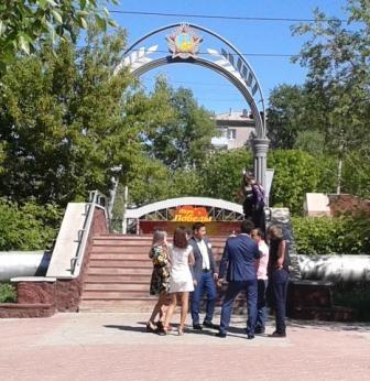 Вход в Парк Победы города Петропавловска