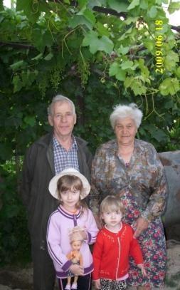 Прощание с дедушкой и бабушкой