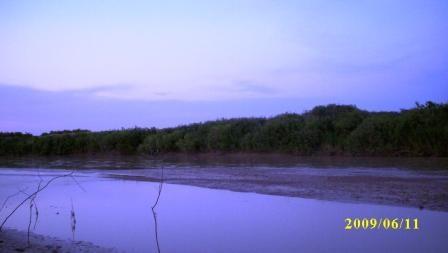 Вечерняя река Арысь