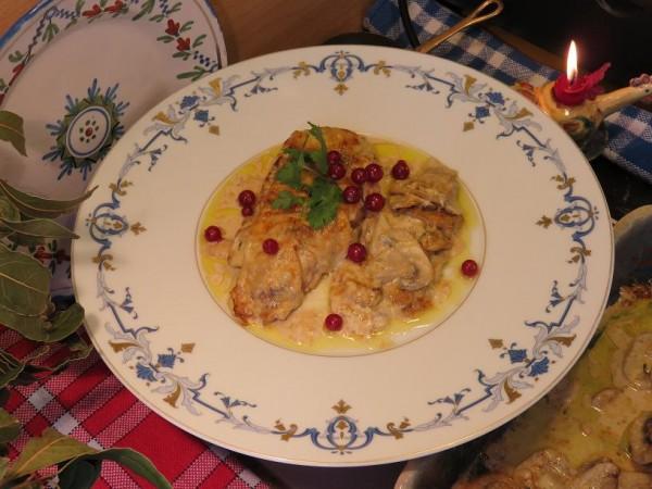 Escalope de dinde gratinée à la Normande, à l'ancienne - Gourmandises TV