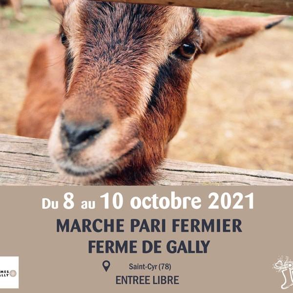 Ferme de Gally (78) : PARI FERMIER du 8 au 10 Octobre 2021