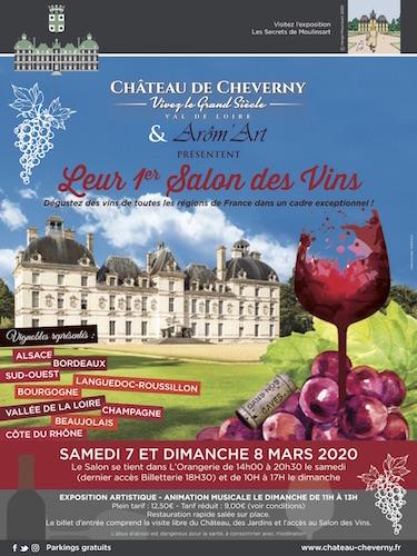 Le Château de Cheverny  lance son premier Salon des Vins