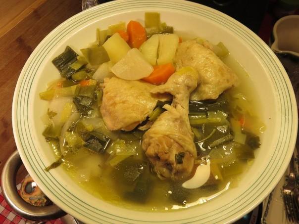 Bouillon de légumes au poulet de la Mère Mitraille