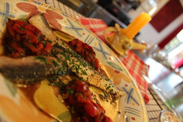 Filets de Sardines en salade marinées au vinaigre balsamique