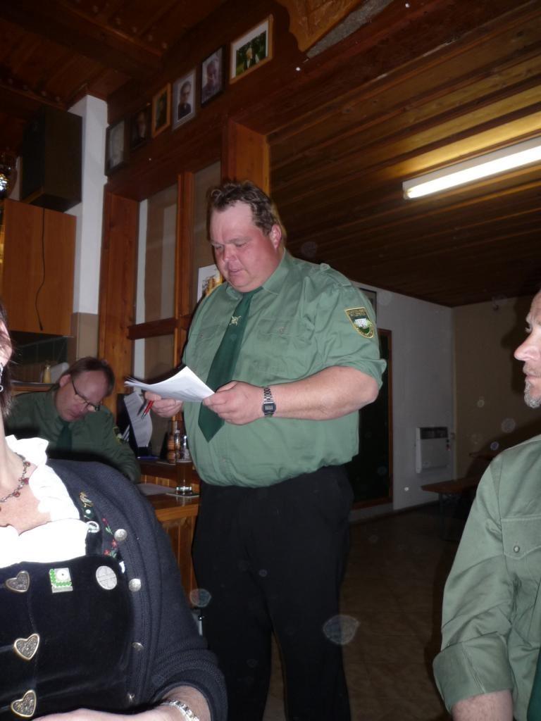 Schützenmeister bei der Ansprache