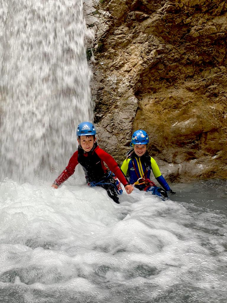 Wasserfalldusche Rosengartenschlucht