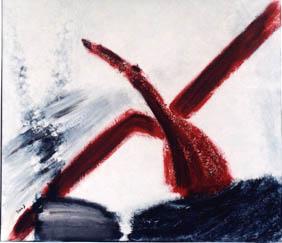 Aufwärts. € 700 - Mischtechnik auf Leinwand 60 x 70 cm