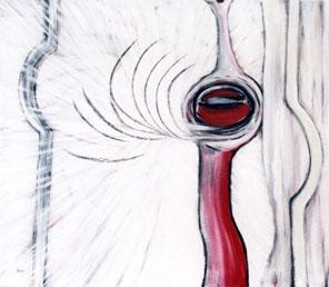 Augenaufschlag. € 700 - Acryl auf Leinwand 60 x 70 cm